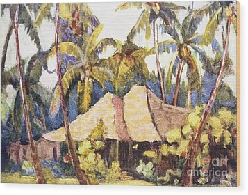 Shirley Russell Art Wood Print by Hawaiian Legacy Archive - Printscapes