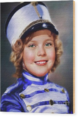 Shirley Temple, Vintage Actress Wood Print