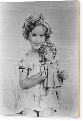 Shirley Temple With A Shirley Temple Wood Print by Everett