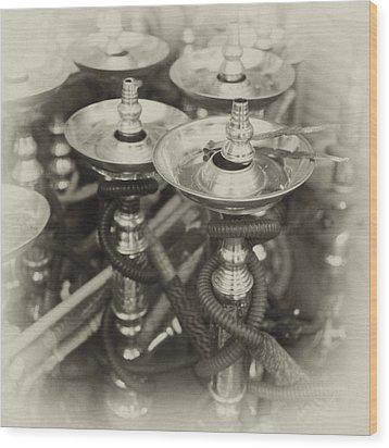 Shisha Pipes In Qatar Retro Wood Print