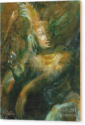 Shiva Lord Of The Dance Wood Print by Ann Radley