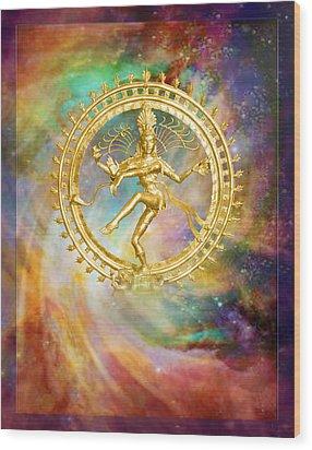 Shiva Nataraja - The Lord Of The Dance Wood Print by Ananda Vdovic