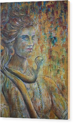 Shiva2-upclose-portrait Wood Print