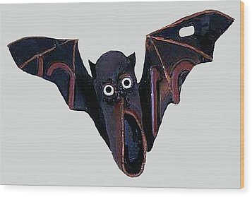 Shoe Bat Wood Print by Bill Thomson