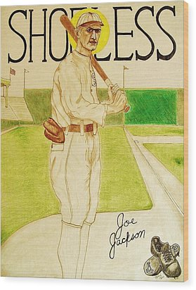 Shoeless Joe Jackson Wood Print