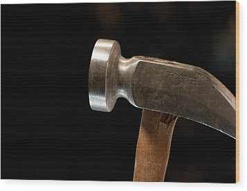 Shoemaker's Hammer Wood Print by Wilma  Birdwell