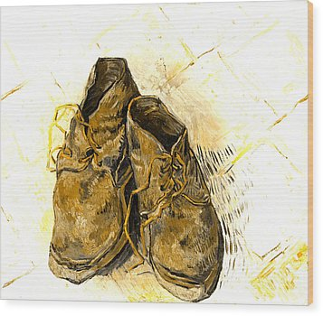 Wood Print featuring the photograph Shoes by John Stephens