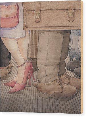 Shoes Wood Print by Kestutis Kasparavicius