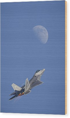 Wood Print featuring the photograph Shoot The Moon by Adam Romanowicz
