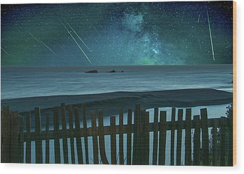 Shooting Stars Wood Print
