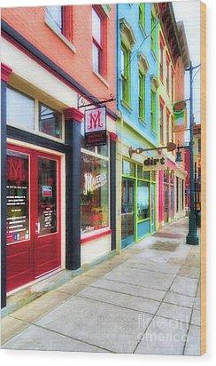 Shops At Cincinnati's Findlay Market # 6 Wood Print by Mel Steinhauer
