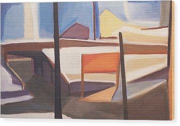 Shore Ave Trestle Study Bogota Nj Wood Print