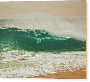 Shore Break Wood Print