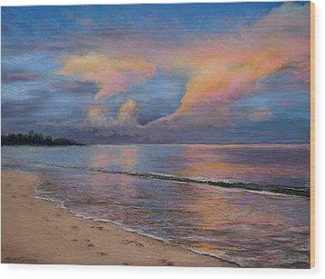 Shore Of Solitude Wood Print by Susan Jenkins