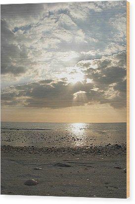 Shore Rays Wood Print by Amanda Vouglas