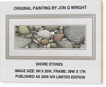 Shore Stones Wood Print by Jon Q Wright