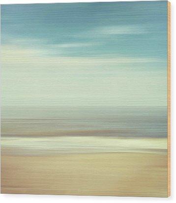 Shore Wood Print by Wim Lanclus