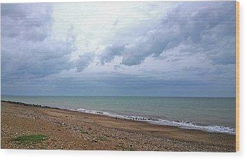 Wood Print featuring the photograph Shoreham Shoreline by Anne Kotan
