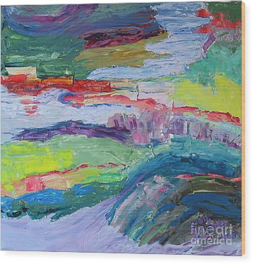Shoreline Wood Print by Judith Espinoza