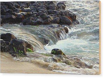 Wood Print featuring the photograph Shoreline by Lori Seaman