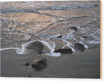 Shoreline Wood Print by Robert Anschutz
