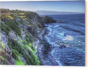 Shores Of Maui Wood Print by Shawn Everhart
