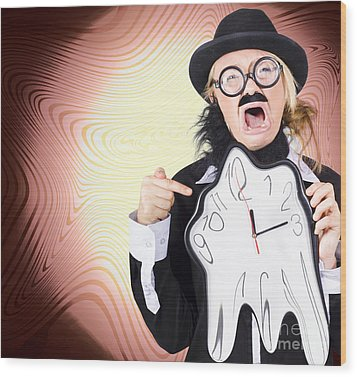 Shouting Businessman Stressed From Rush Hour Wood Print by Jorgo Photography - Wall Art Gallery