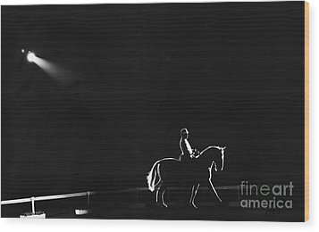 Show Horse Wood Print by Jim Wright