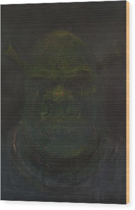 Shrek Wood Print by Antonio Ortiz