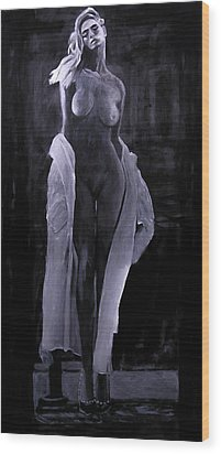 Wood Print featuring the painting Shudder Before The Beautiful by Jarko Aka Lui Grande