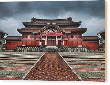 Shuri Castle Wood Print by Ryan Wyckoff