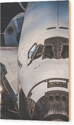 Shuttle Close Up Wood Print by David Collins