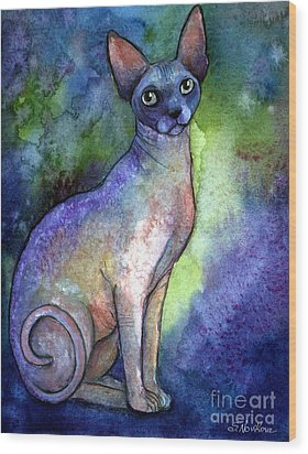 Shynx Cat 2 Painting Wood Print by Svetlana Novikova