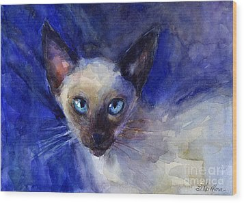 Siamese Cat  Wood Print by Svetlana Novikova