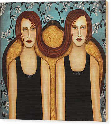 Siamese Twins Wood Print by Leah Saulnier The Painting Maniac