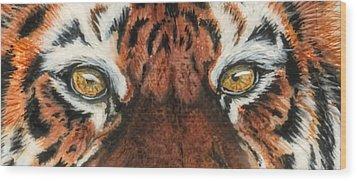 Sib Tig Eye Wood Print by Laurie Bath