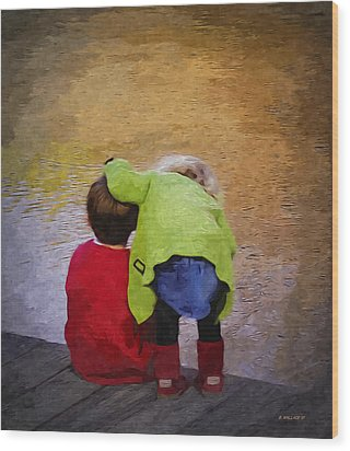 Sibling Love Wood Print by Brian Wallace