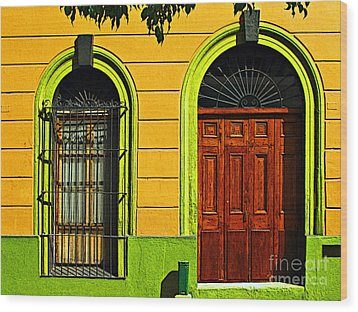 Side Door By Darian Day Wood Print by Mexicolors Art Photography