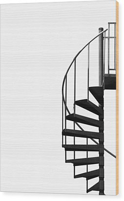 Side Entrance Wood Print by Evelina Kremsdorf