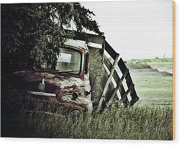 Side Stop Wood Print by Jerry Cordeiro