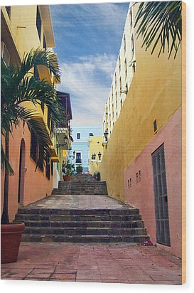 Wood Print featuring the photograph Side Street by John Rivera