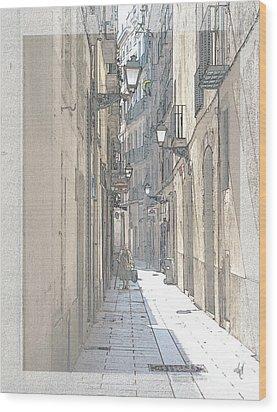 Side Street Wood Print