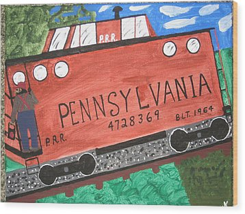 Wood Print featuring the painting Side Tracked In Pa.  by Jeffrey Koss