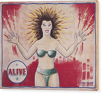 Sideshow Poster, C1965 Wood Print by Granger
