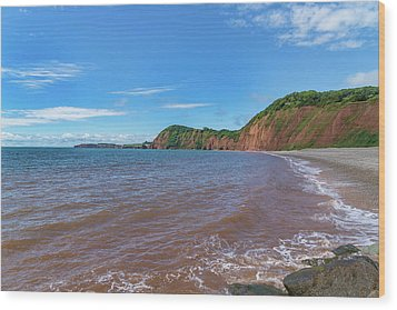 Wood Print featuring the photograph Sidmouth Jurassic Coast by Scott Carruthers
