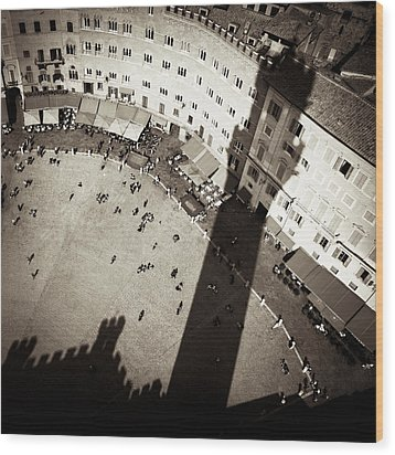 Siena From Above Wood Print by Dave Bowman