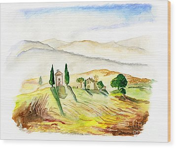 Siena. Italy Wood Print