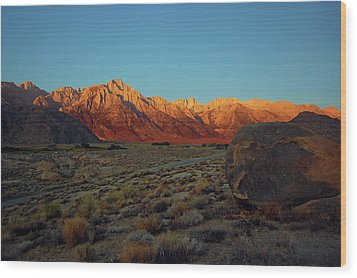 Sierra Nevada Sunrise Wood Print