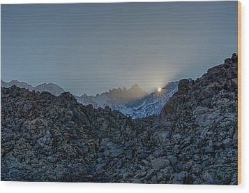 Sierra Sun Burst Wood Print