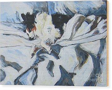 Wood Print featuring the painting Siesta by Debora Cardaci
